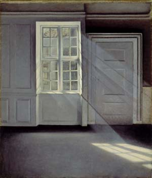 Vilhelm Hammershoi (1864-1916),Dust Motes dancing in the Sunbeams, 1900, Oil on canvas, 70 x 59 cm, Ordrupgaard, Copenhagen