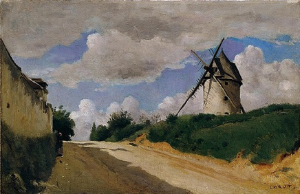 Camille Corot (1796-1875), The Windmill, ca. 1835-40, oil on canvas, 25 x 39,5 cm, Ordrupgaard