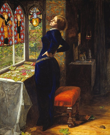 John Everett Millais (1829-1896), Mariana, 1851, oil on mahogany, 59,7 x 49,5 cm, Tate, London