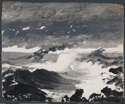 Peder Balke (1804-1887), The Tempest, ca 1862, Oil on wood panel, 10,3 x 12,2 cm, National Gallery, London