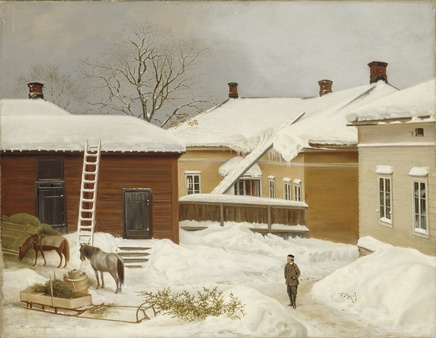 Magnus von Wright (1805-1868), The Liljenstrand House in winter, 1868, Oil on canvas, Ateneum Art Museum, Helsinki