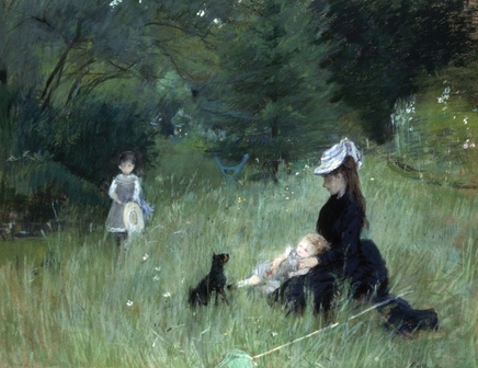Berthe Morisot (1841-1895), In the park, 1874, pastel, 73,6 x 92,5 cm, Petit Palais, Paris.