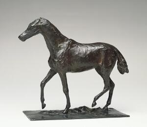 Edgar Degas (1834-1917), Horse walking, early 1870s, copper alloy, Norton Simon Museum
