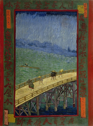 Vincent van Gogh (1853-1890), Bridge in the rain (after Hiroshige), 1887, Oil on canvas, 73,3 x 53,8 cm, Van Gogh Museum Amsterdam