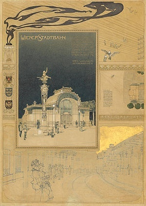 Otto Wagner (1841-1918), Presentation sheet for the City Railway, 1918, Wien Museum