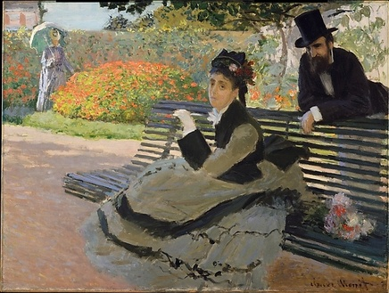 Claude Monet (1840-1926), On a garden bench, 1873, Oil on canvas, 60,6 x 80,3 cm, The MET, New York