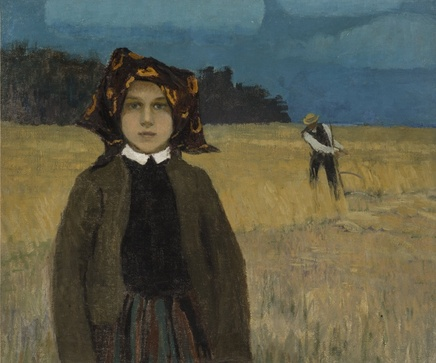 Johann Walter (1869-1932), Young peasant girl, ca. 1904, Oil on canvas, 83,8 x 98 cm, National Museum of Fine Arts, Riga