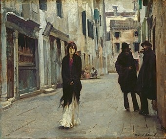 John Singer Sargent (1856-1925), Street in Venice, 1882, Oil on wood, 45,1 x 53,9 cm, National Gallery of Art, Washington