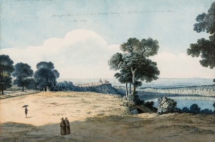 Thomas Jones (1742-1803), A view from the Capuchin convent at Albano, 1770, watercolour, 26 x 41,9 cm, collection BNYMellon