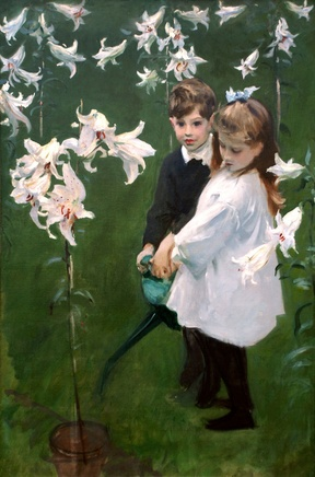John Singer Sargent (1856-1925), Garden study of the Vickers children, 1884, oil on canvas, 138,4 x 91,4 cm, The Flint Institute, Michigan