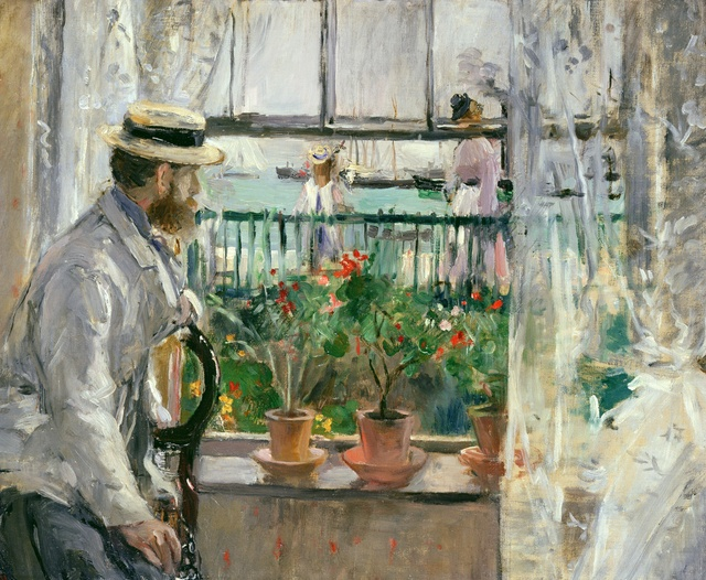 Berthe Morisot (1841-1895), Eugène Manet on the Isle of Wight, 1875, Oil on canvas, 38 x 46 cm, Musée Marmottan Monet, Paris