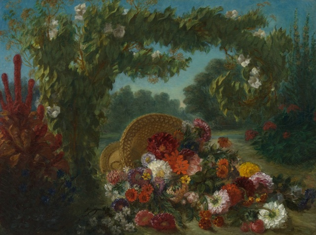 Eugène Delacroix (1798-1863), Basket of flowers, 1848-9, oil on canvas, 107,3 x 142,2 cm, The MET
