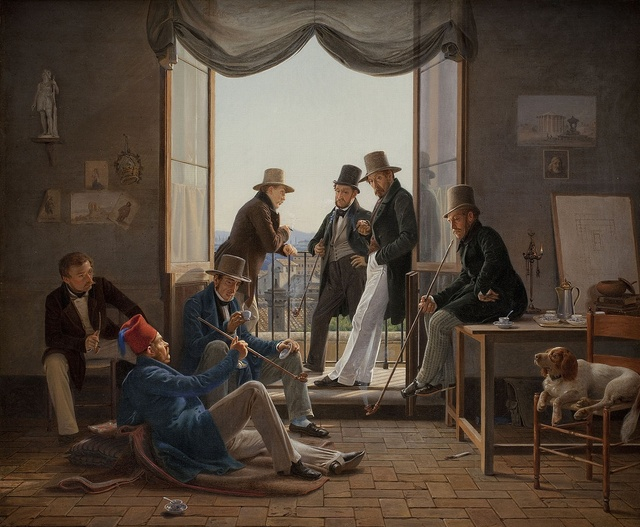 Constantin Hansen (1804-1880), A group of Danish artists in Rome, 1837, Oil on canvas, 62 x 74 cm, Statens Museum, Copenhagen