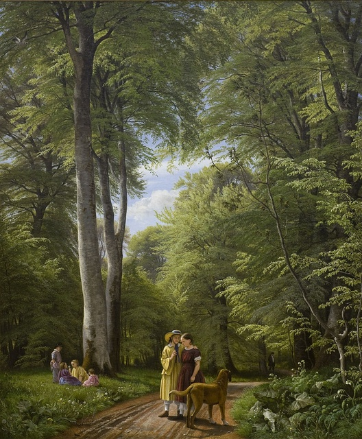 Peter Christian Skovgaard (1817-1875), A Beech Wood in May near Iselingen Manor, 1857, Oil on canvas, 189,5 x 158,5 cm, Statens Museum, Copenhagen