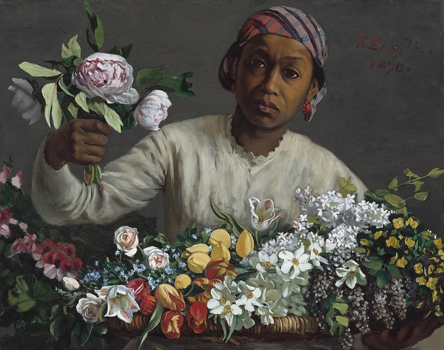 Frédéric Bazille (1841-1870), Young woman with peonies, 1870, oil on canvas, 60 x 75 cm, National Gallery of Art, Washington