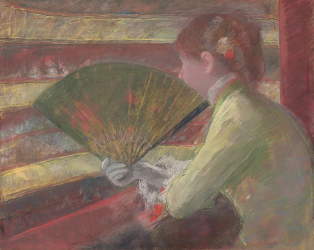 Mary Cassatt (1844-1926), In the Loge, c. 1879, pastel, 64,9 x 80,6 cm, Philadelphia Museum of Art